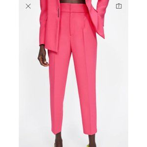Zara | Pink pleated trousers
